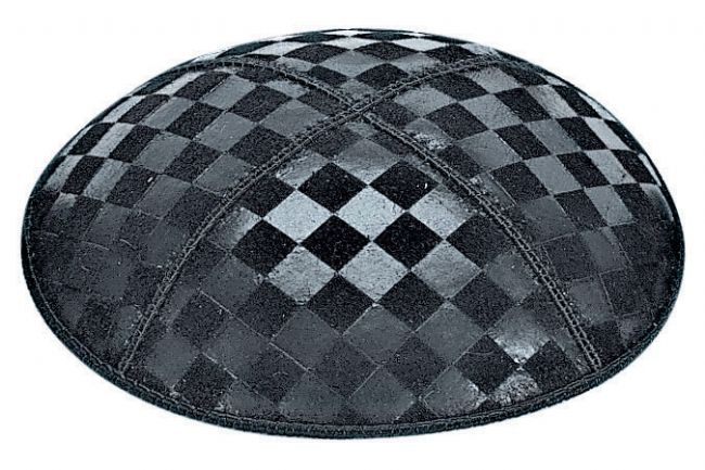 Checkerboard Embossed Kippah Kippot / Yarmulkes - Mitzvahland.com All your Judaica Needs!