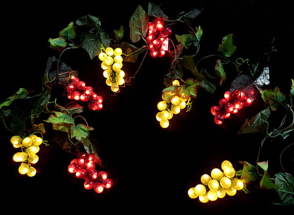 Grape String Lights Sukkah Decorations - Mitzvahland.com All your Judaica Needs!