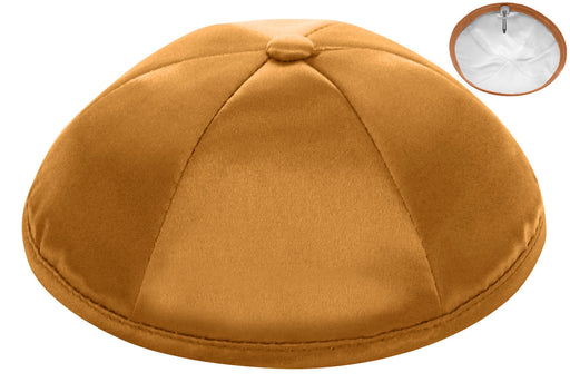 Gold Deluxe Satin Kippah - Per Piece Kippot / Yarmulkes - Mitzvahland.com All your Judaica Needs!