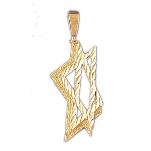 14K GOLD JEWISH CHARM - STAR OF DAVID Jewelry - Mitzvahland.com All your Judaica Needs!