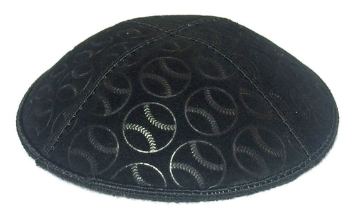 Baseball Embossed Kippah Kippot / Yarmulkes - Mitzvahland.com All your Judaica Needs!