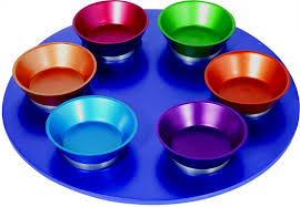 Anodized Aluminum Seder Plate - Multi-Color Seder Plates - Mitzvahland.com All your Judaica Needs!
