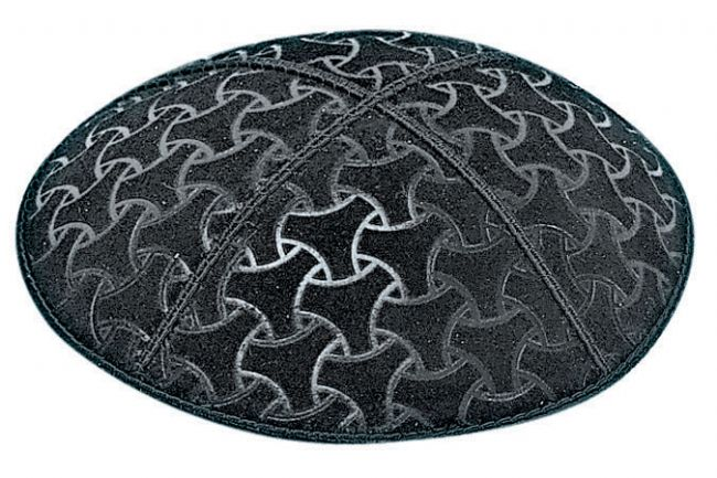 Wheels Embossed Kippah