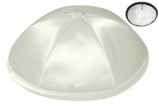 Ivory Deluxe Satin Kippah  - Per Piece Kippot / Yarmulkes - Mitzvahland.com All your Judaica Needs!