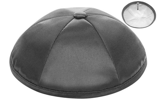 Dark Grey Deluxe Satin Kippah - Per Piece Kippot / Yarmulkes - Mitzvahland.com All your Judaica Needs!