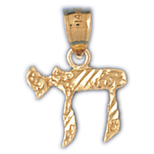 14K Gold Chai Life Charm Jewelry - Mitzvahland.com All your Judaica Needs!