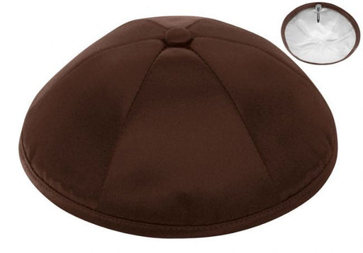 Brown Deluxe Satin Kippah - Per Piece Kippot / Yarmulkes - Mitzvahland.com All your Judaica Needs!