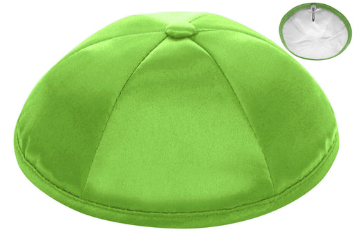 Lime Deluxe Satin Kippah - Per Piece
