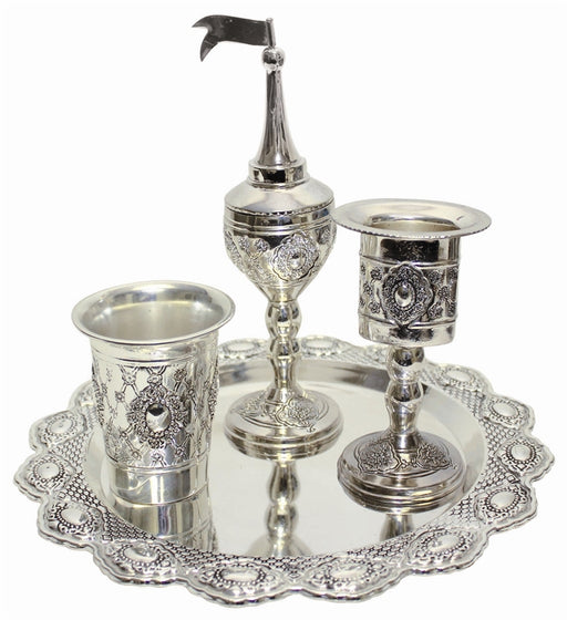 Havdalah Set Silver Plate Havdalah Sets - Mitzvahland.com All your Judaica Needs!