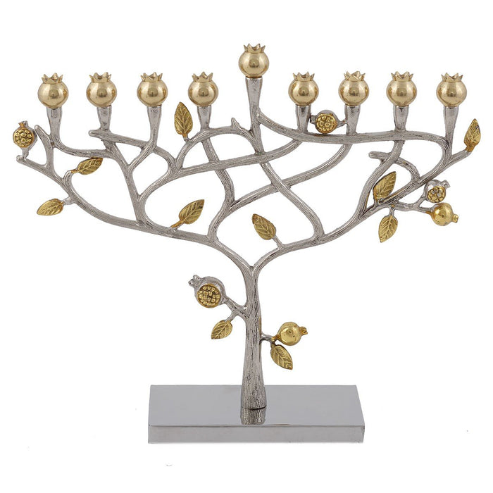 Tree of Life Hammered Menorah