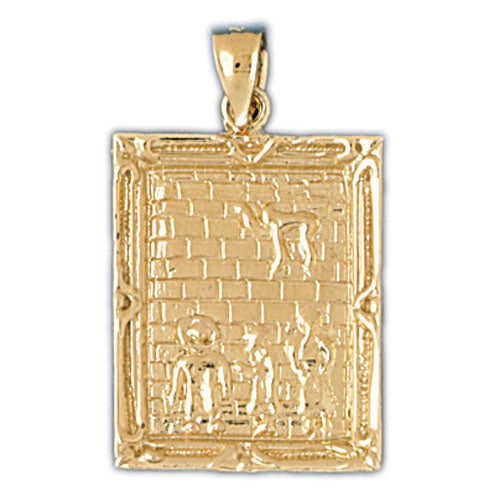 14K Gold Jewish Medallion Pendant Jewelry - Mitzvahland.com All your Judaica Needs!