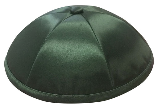 Dark Green Deluxe Satin Kippah - Per Piece Kippot / Yarmulkes - Mitzvahland.com All your Judaica Needs!