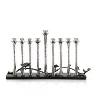 Black Orchid Menorah Michael Aram Menorah - Mitzvahland.com All your Judaica Needs!