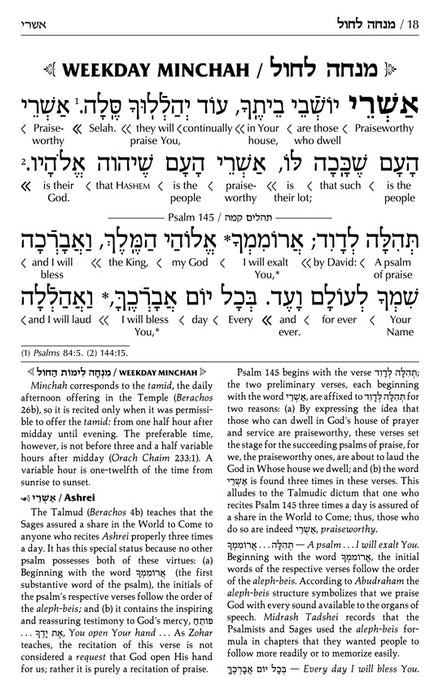 Siddur and Tehillim with an Interlinear Translation - 3 Volume Slipcased Set - Ashkenaz Pocket Size Edition