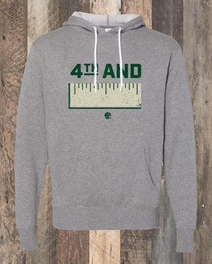 4th & Inches Hoodie - Heather Grey