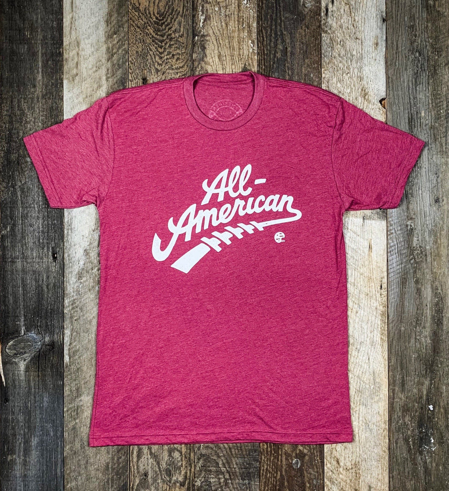 All American Tee - Heather Red