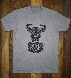 Bull Rush Tee - Heather Grey