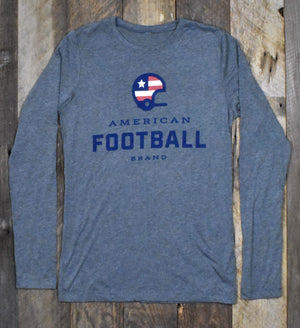 Women's American Football Brand Long Sleeve Jersey - Heather Grey