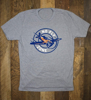 No Fly Zone Tee - Heather Grey