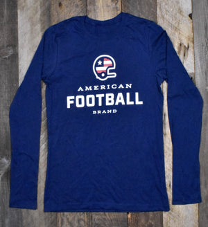 Women's American Football Brand Long Sleeve Jersey - Navy