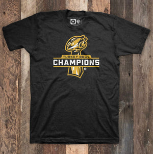 Turkey Bowl Champions Black Heather T-Shirt