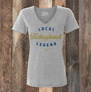 Turkey Bowl Legend Gray Heather Ladies T-Shirt