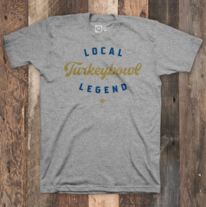 Turkey Bowl Legend Grey Heather T-Shirt