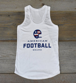 Women's American Football Brand Racer Back Tank
