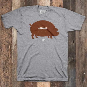 Pigskin Football Heather Grey T-shirt
