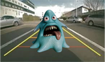 Backup camera prank monster; vehicle reverse camera prank