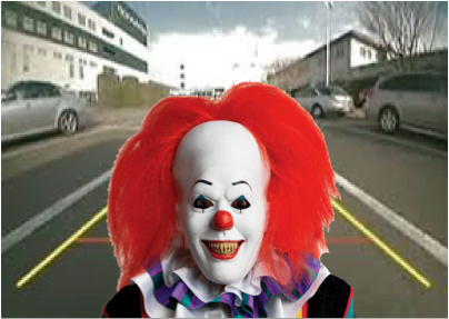 bad clown backup camera prank