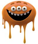 Orange Melty Monster