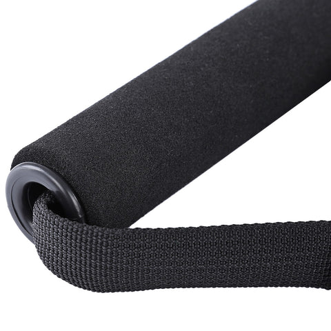 D-ring Pedal Pull Rope Foam Handle  -  BLACK