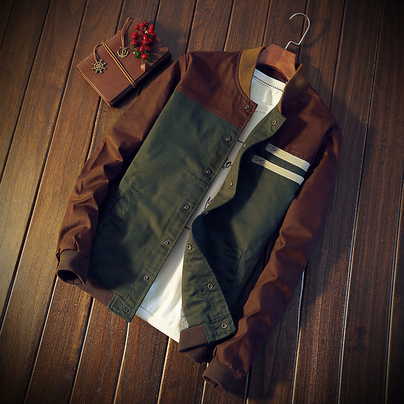 Baseball Style Leather Jacket