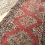 "This handwoven vintage Turkish rug is a genuine Oushak runner, and it's huge! This would be amazing in a large entryway or hall. 5'1""x14'9 feet."