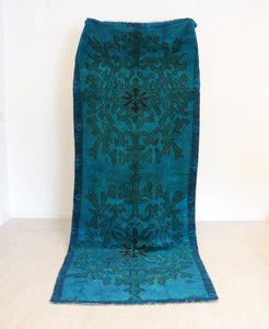 ON HOLD / NOT AVAILABLE 1007 Deniz 4'7x11'7 Handwoven Vintage Rug