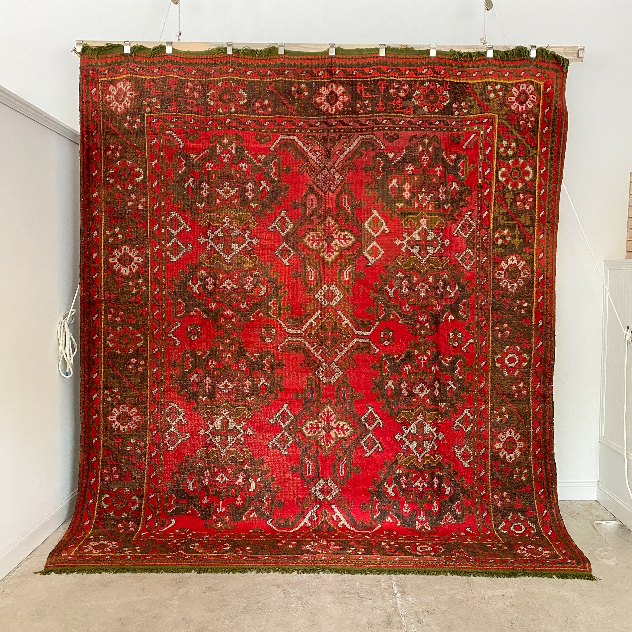 1008 Handwoven Antique Rug 9'9x11