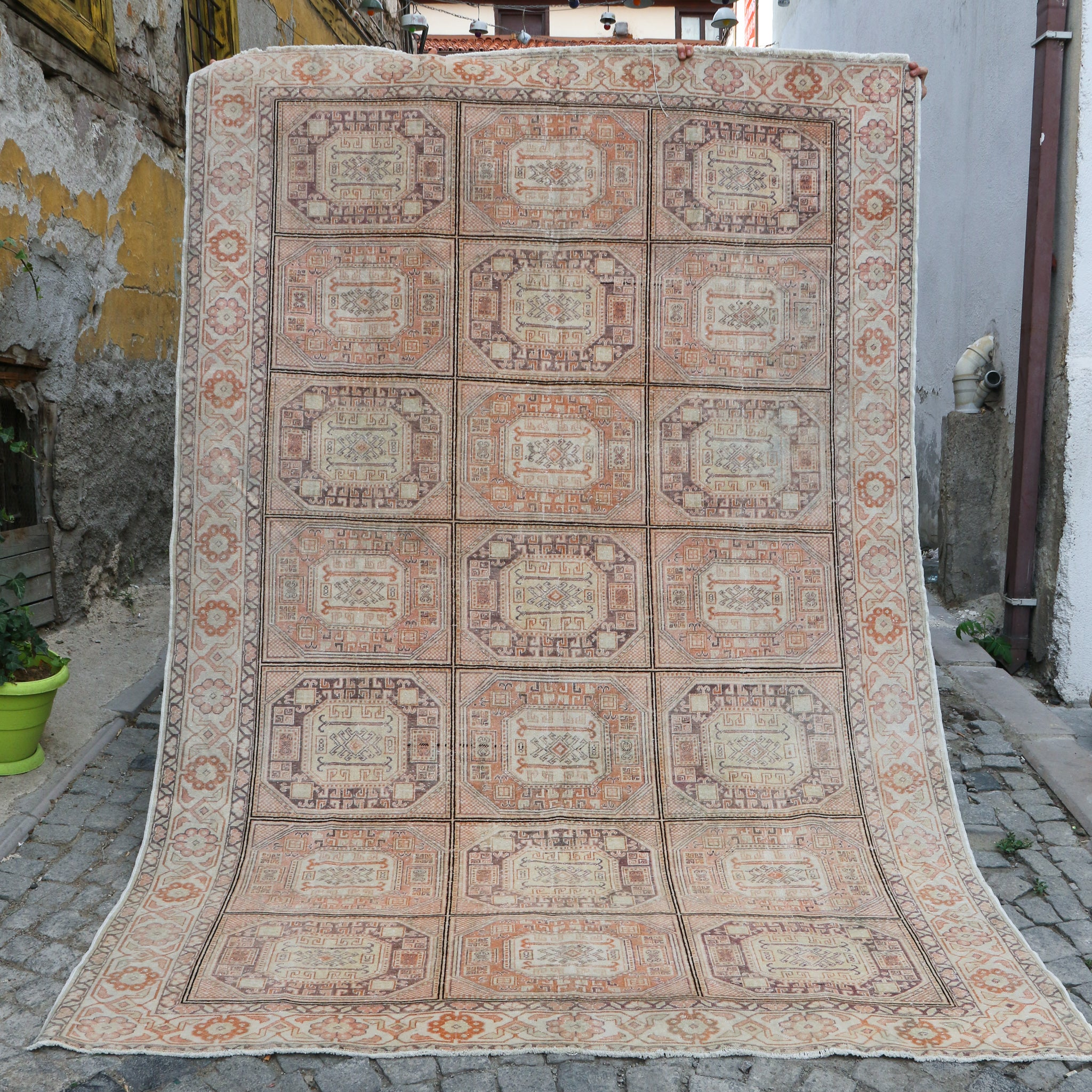 ON HOLD 1144 Emine 6'3x9'3 Handwoven Vintage Rug