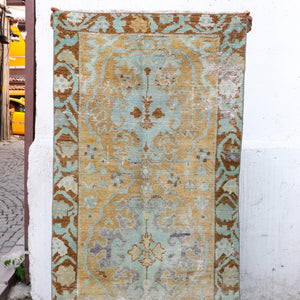 ON HOLD 1151 Ayşe 2'11x7'9 Handwoven Vintage Rug