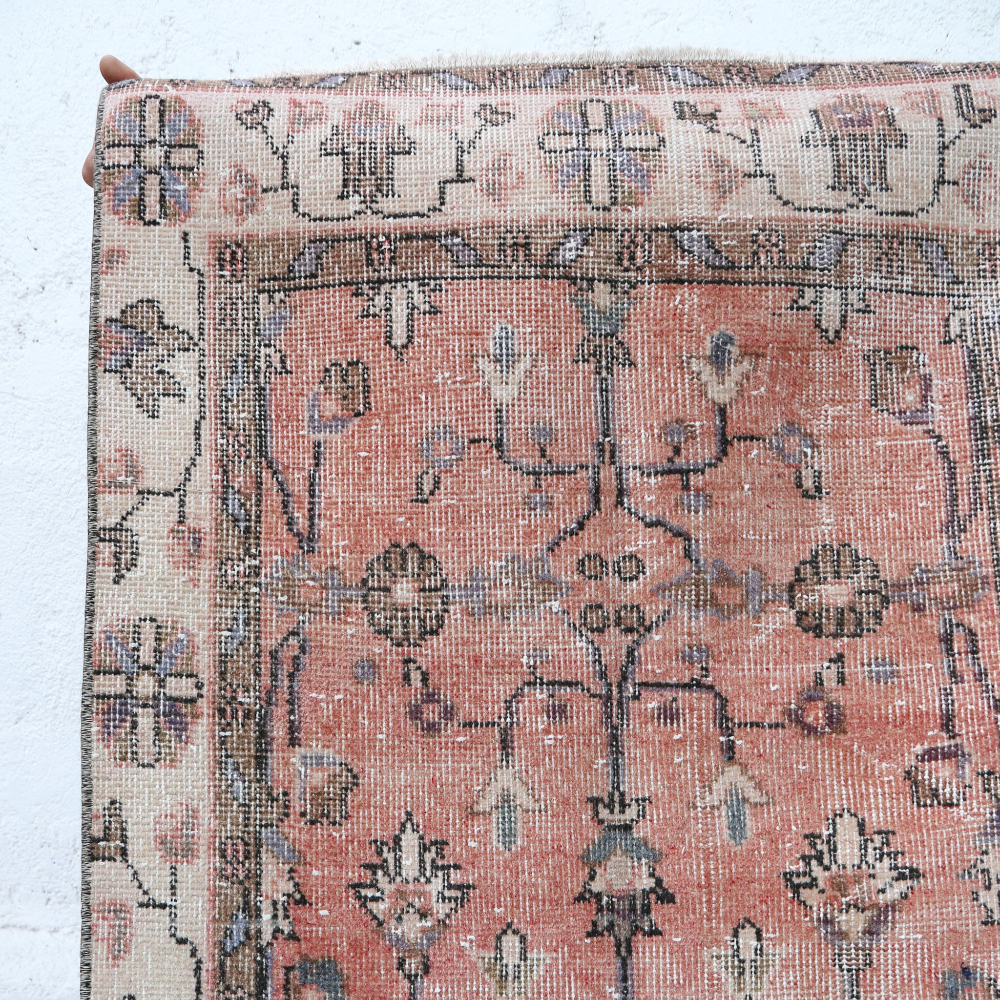 ON HOLD 1163 Pembe 2'9x10'10 Handwoven Vintage Rug