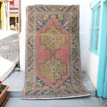 ON HOLD NOT AVAILABLE 1183 Nisa 4'8x8'5 Handwoven Vintage Rug