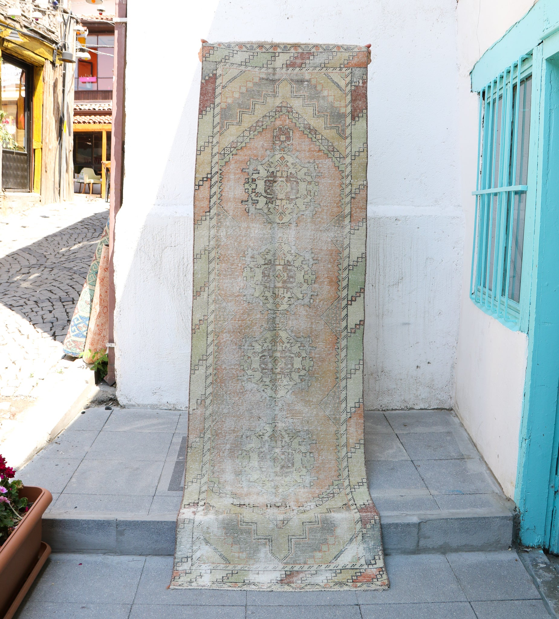 ON HOLD WYN 1196 Ela 2'8x8'11 Handwoven Vintage Rug