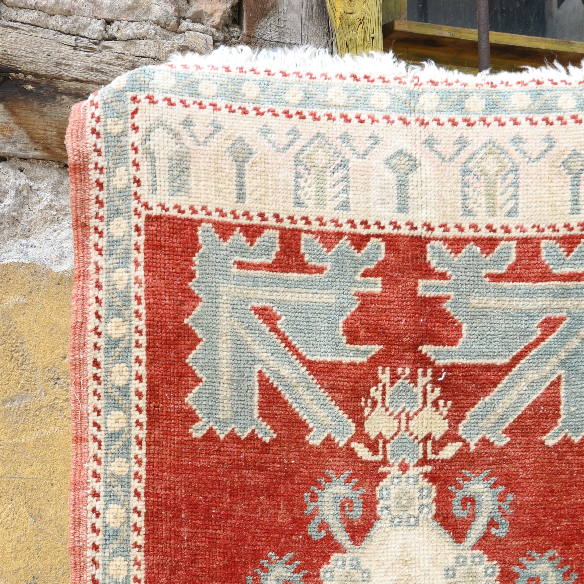 CURRENTLY ON HOLD/NOT AVAILABLE FOR PURCHASE 1250 Small Handwoven Vintage Rug 1'11x4'2