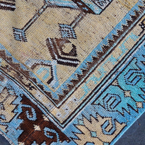ON HOLD NOT AVAILABLE FOR PURCHASE V1520 Handwoven Vintage Rug 2'7x5'5