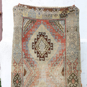 ON HOLD / NOT AVAILABLE 1530 Azra 3'3x9 Handwoven Vintage Rug