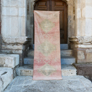 On Hold 1645 Pembe 3'1x8'8 Handwoven Vintage Rug