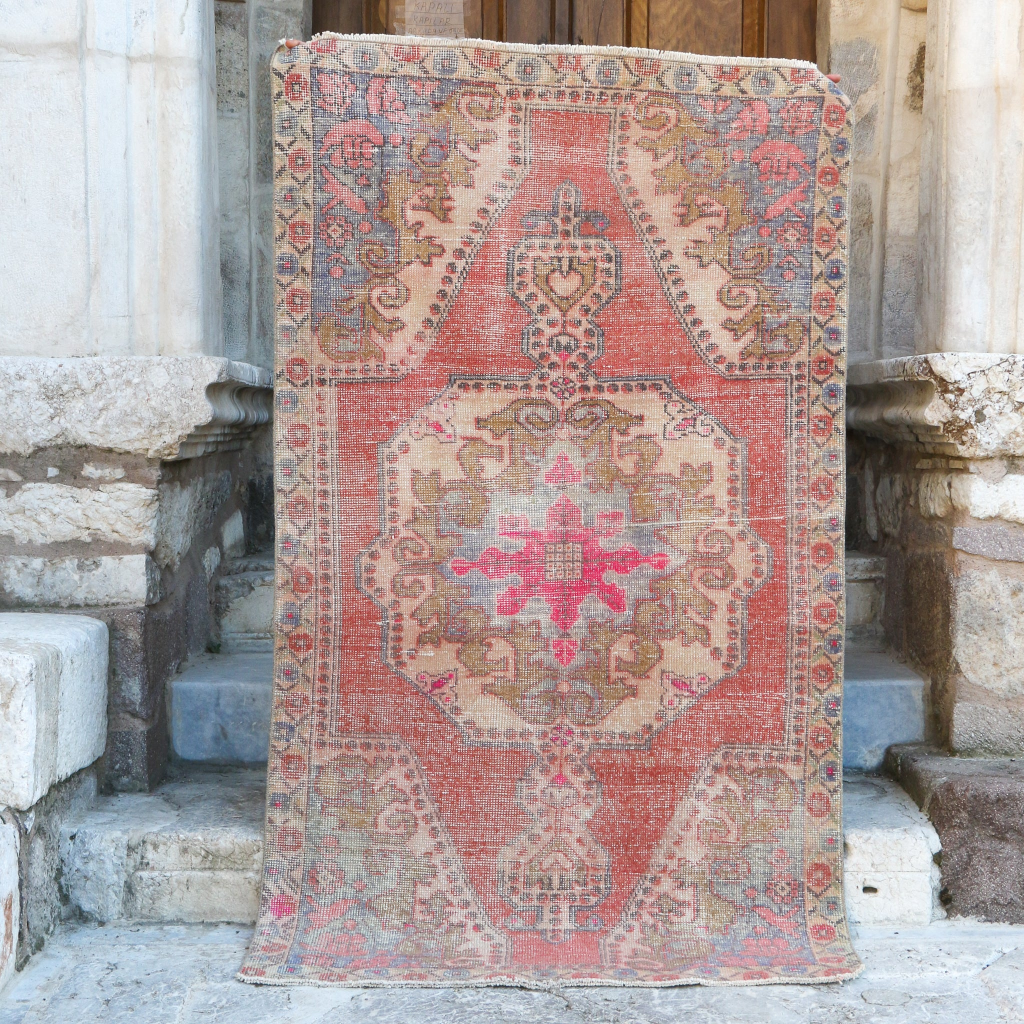 ON HOLD 1655 Derya 4'6x7'8 Handwoven Vintage Rug