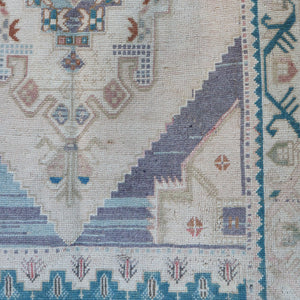 ON HOLD NOT AVAVILALBE 1659 Handwoven Vintage Rug 4'1x6'8
