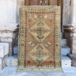 ON HOLD 1677 Aysel 4'7x7'9 Handwoven Vintage Rug