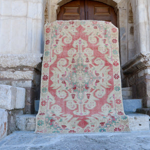 ON HOLD MD 1705 Elmas 4'6x7 Handwoven Vintage Rug